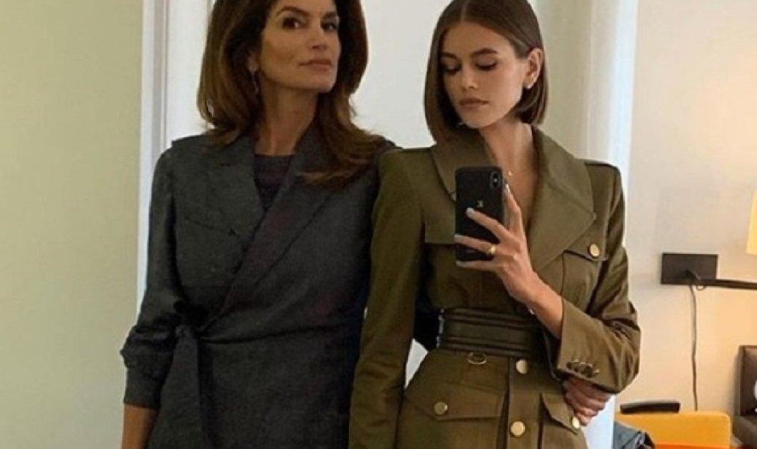 Σίντι Κρόφορντ - Κάια Γκέρμπερ: Ή πως είναι να ποζάρεις εξώφυλλο στην Vogue με την κόρη σου (φώτο) - Κυρίως Φωτογραφία - Gallery - Video