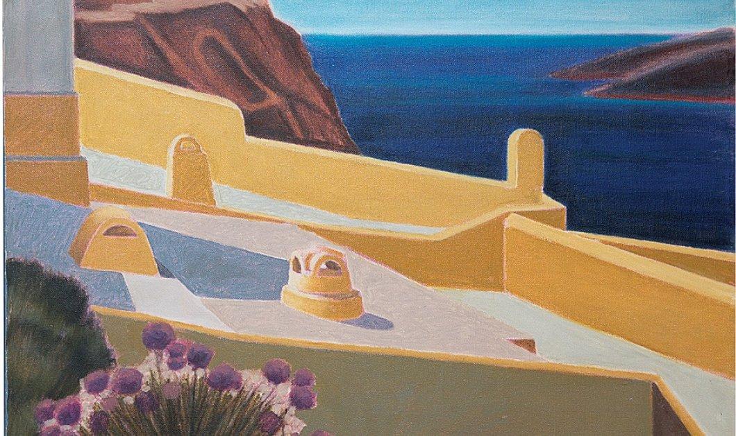 Απ' το Παλιό λιμάνι ως τα Φηρά - Το μαγικό φως της Σαντορίνης στους καμβάδες των Γκίκα, Μόραλη & άλλων σπουδαίων ζωγράφων (φώτο) - Κυρίως Φωτογραφία - Gallery - Video