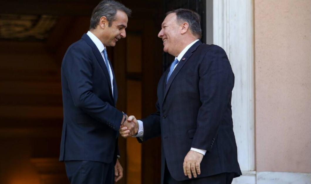 Θερμό κλίμα στη συνάντηση Μητσοτάκη-Πομπέο: Τη συμβολή των ΗΠΑ για να αντιμετωπιστεί η τουρκική προκλητικότητα ζήτησε ο Έλληνας Πρωθυπουργός - Κυρίως Φωτογραφία - Gallery - Video