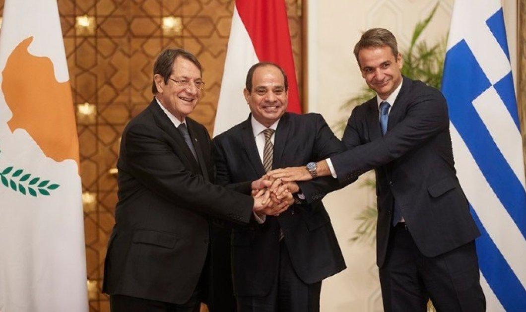 Κάιρο: Κοινό μέτωπο & αυστηρό μήνυμα προς την Τουρκία από Ελλάδα - Κύπρο & Αίγυπτο (φώτο-βίντεο) - Κυρίως Φωτογραφία - Gallery - Video