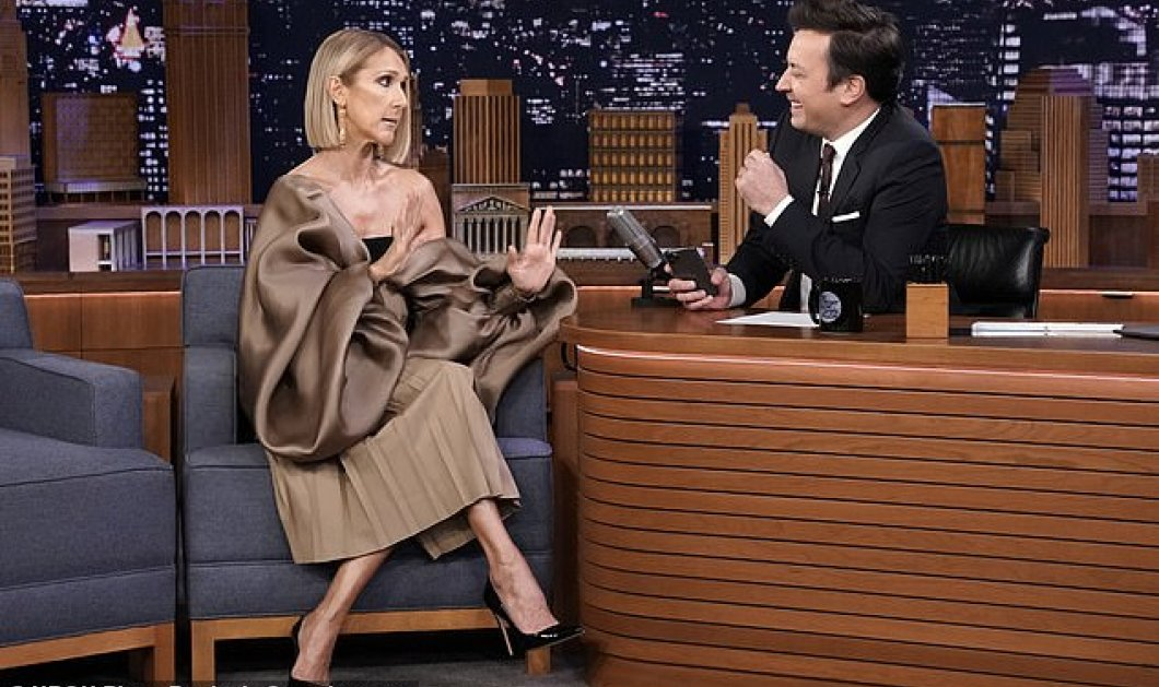 H Celine Dion με ογκώδημανίκια& σικάτοσύνολοSchiaparelli στην διάσημηεκπομπήτου Jimmy Fallon - Φώτο - Κυρίως Φωτογραφία - Gallery - Video