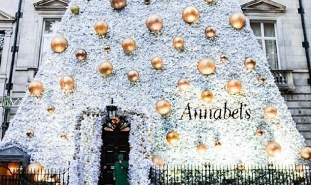 Annabel's : Ολόλευκο σαν χιόνι το Χριστουγεννιάτικο δέντρο του διασημότερου club του Λονδίνου (φώτο) - Κυρίως Φωτογραφία - Gallery - Video