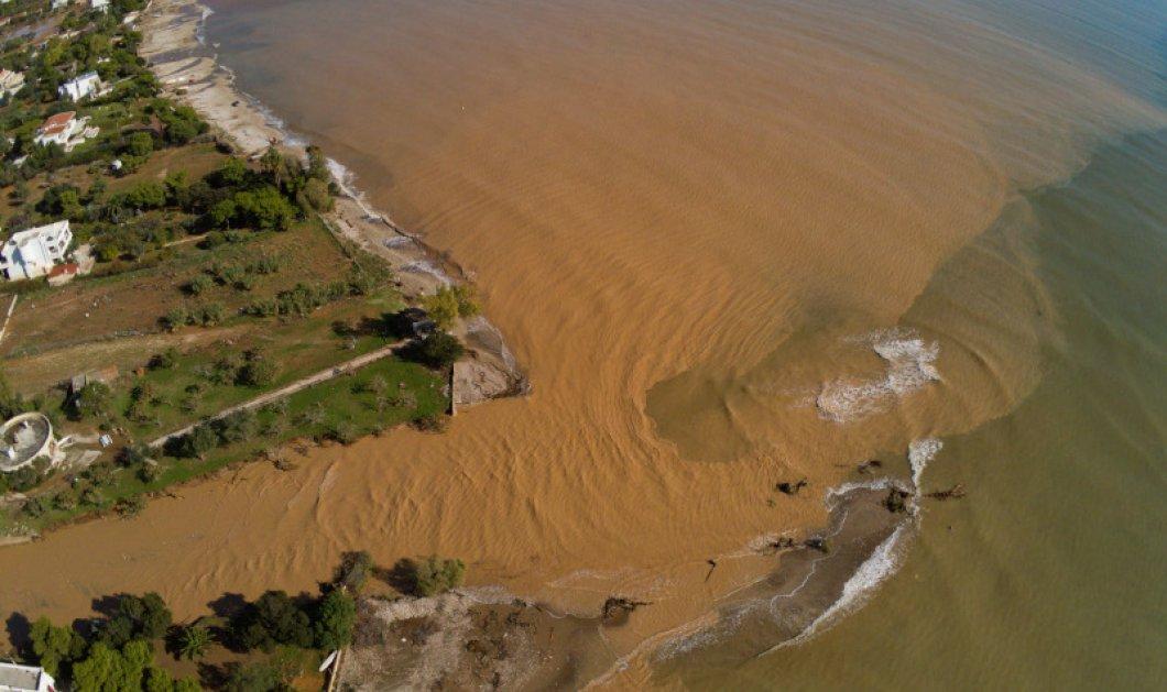 """Κινέτα: Εικόνες βιβλικής καταστροφής μετά την επέλαση του """"Γηρυόνη"""" - Εικόνες από Drone δείχνουν σπίτια & δρόμους θαμμένα στη λάσπη (φώτο) - Κυρίως Φωτογραφία - Gallery - Video"""