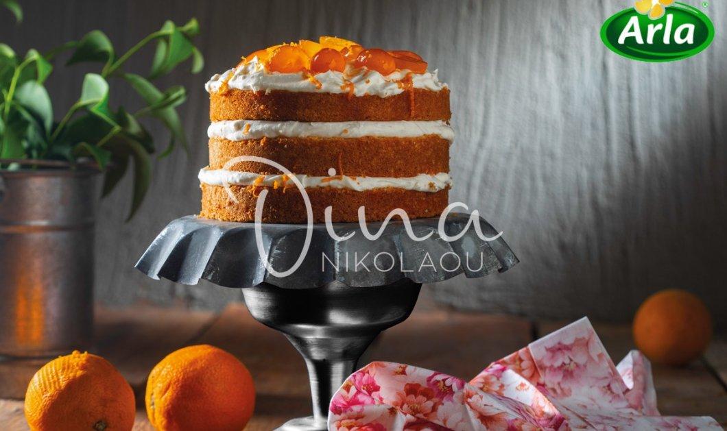 Η Ντίνα Νικολάου μας εντυπωσιάζει: Ονειρεμένη η τούρτα-κέικ  με κρέμα πορτοκάλι & κουμκουάτ - Κυρίως Φωτογραφία - Gallery - Video
