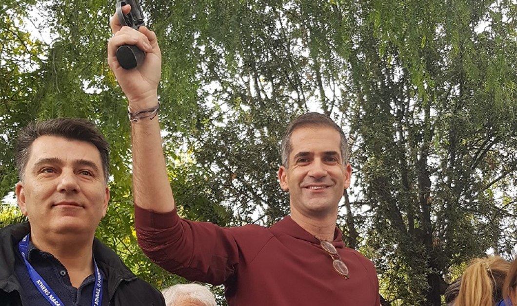 Ο Κώστας Μπακογιάννης & ο Γιώργος Πατούλης πυροβολούν στον αέρα και κηρύσσουν την έναρξη του 37ου Αυθεντικού Μαραθωνίου της Αθήνας (φώτο-βίντεο)  - Κυρίως Φωτογραφία - Gallery - Video