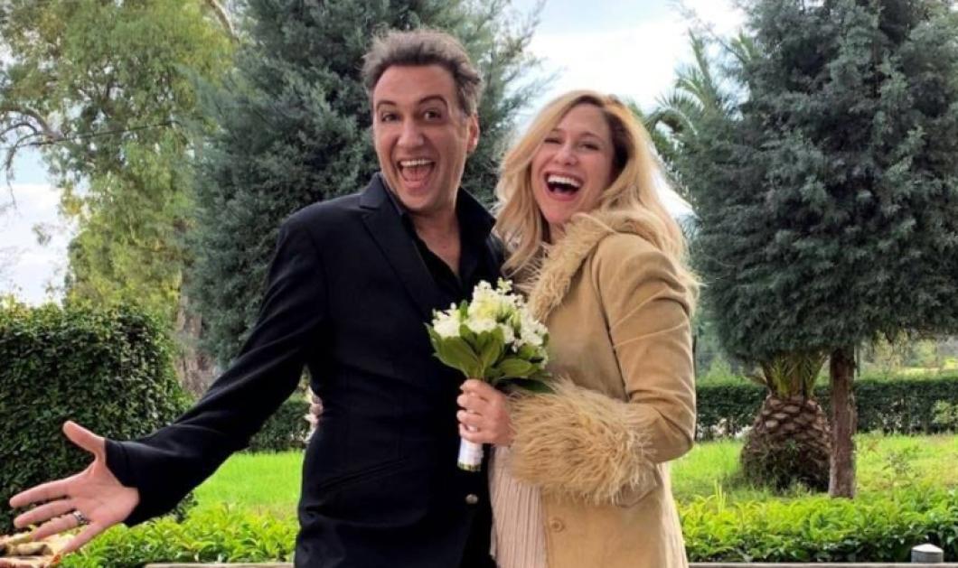Γάμος στις «ΆγριεςΜέλισσες»: Ο Κυριάκος -Βαγγέλης Αλεξανδρήςπαντρεύτηκετην καλή του - Δείτε φώτο με την έγκυοαγαπημένητου  - Κυρίως Φωτογραφία - Gallery - Video