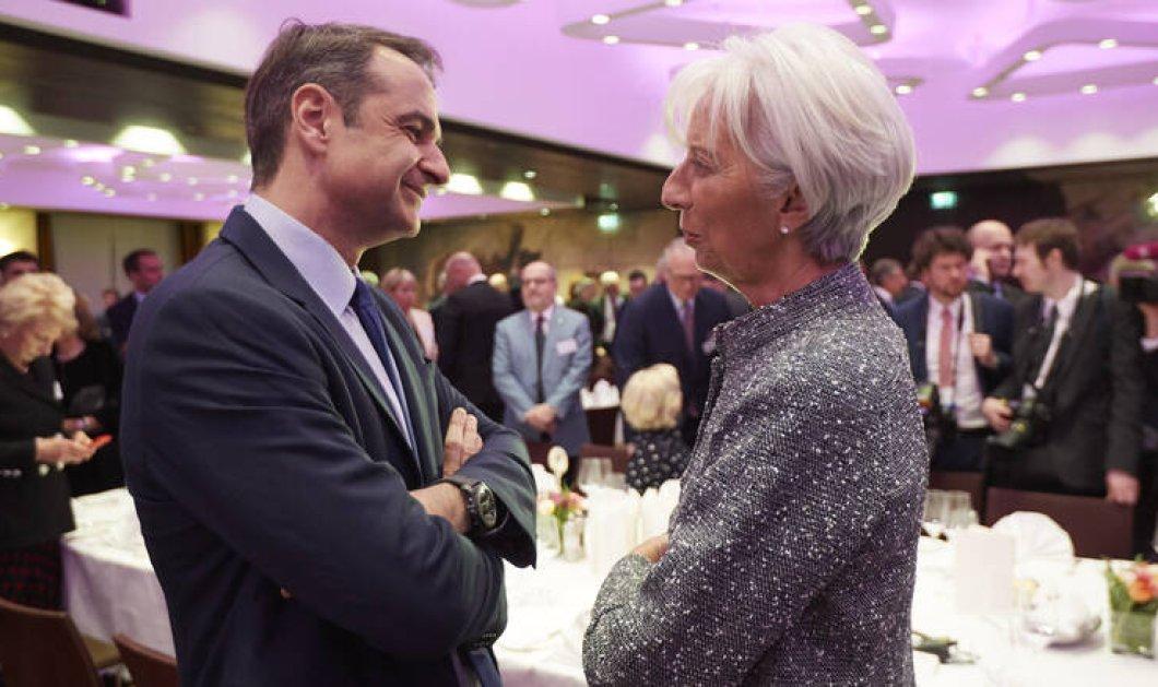 Σε θετικό κλίμα η συνάντηση Μητσοτάκη Λαγκάρντ - Ικανοποιημένη η πρόεδρος της ΕΚΤ από την πορεία της κυβέρνησης - Κυρίως Φωτογραφία - Gallery - Video