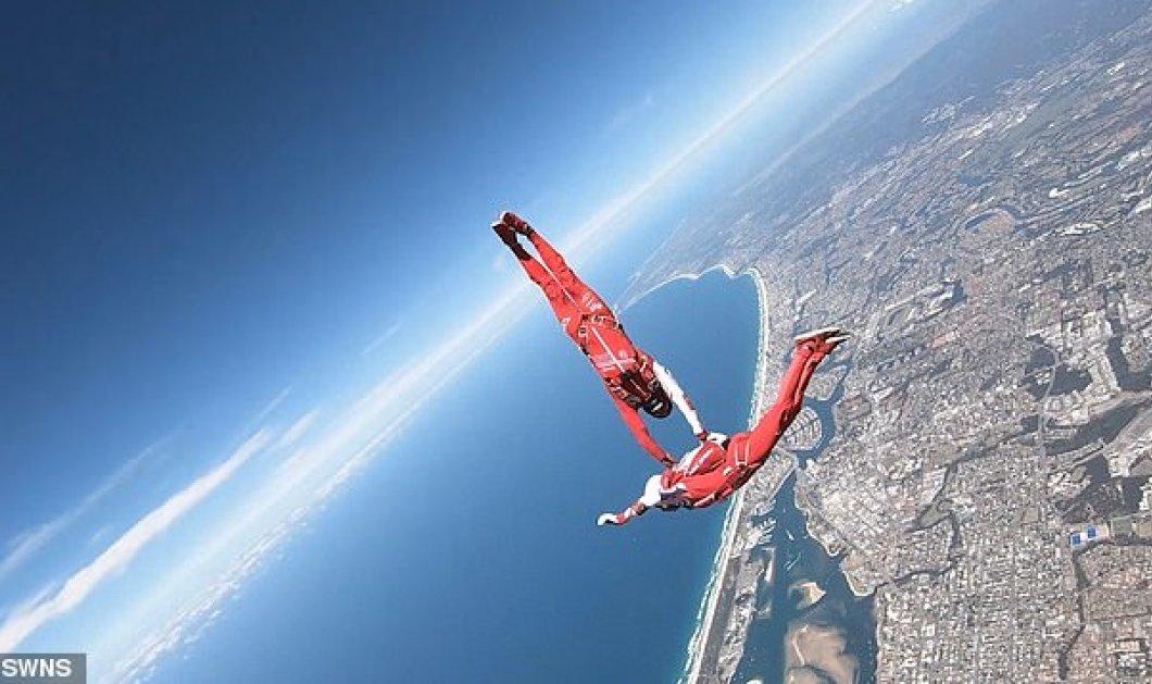"""Βίντεο - Φώτο: Ξεπερνάει κάθε φαντασία ο """"χορός"""" στον αέραμε απίθανες φιγούρες για δύο τολμηρούς skydivers - Κυρίως Φωτογραφία - Gallery - Video"""