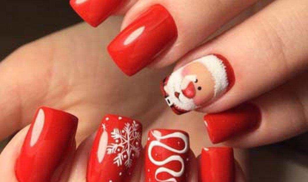 Χριστουγεννιάτικο μανικιούρ: 32 εορταστικά σχέδια για τα πιο... κόκκινα νύχια - Φώτο - Κυρίως Φωτογραφία - Gallery - Video
