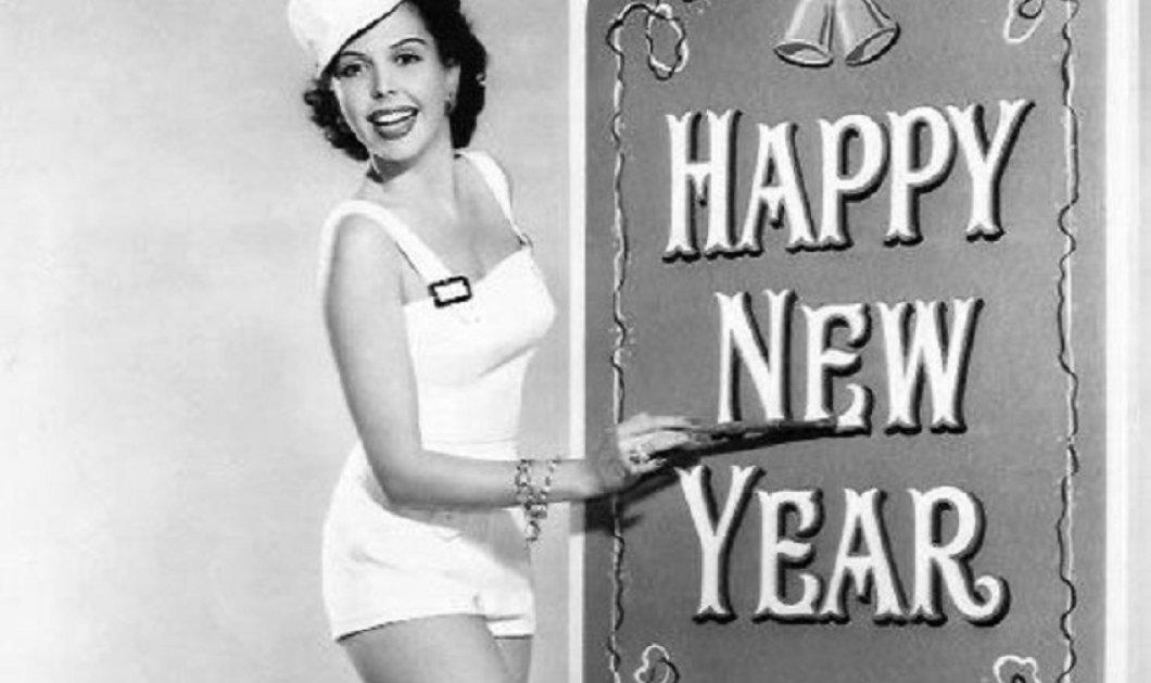 """Vintage Pics: Παραμονή Πρωτοχρονιάς μιας άλλης εποχής - Καλλονές & γόηδες  μας εύχονται """"καλή χρονιά""""  - Κυρίως Φωτογραφία - Gallery - Video"""