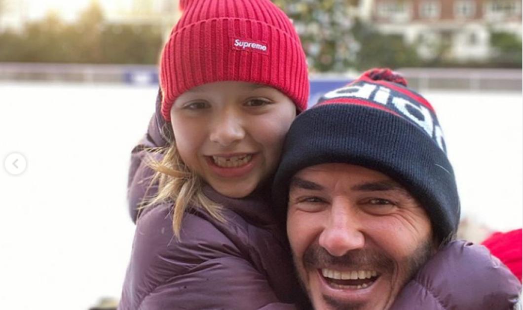 Ντέιβιντ Μπέκαμ: Χαριτωμένη φωτογραφία με την κόρη τουΧάρπερ - Φιλάκια & αγκαλίτσες - Κυρίως Φωτογραφία - Gallery - Video