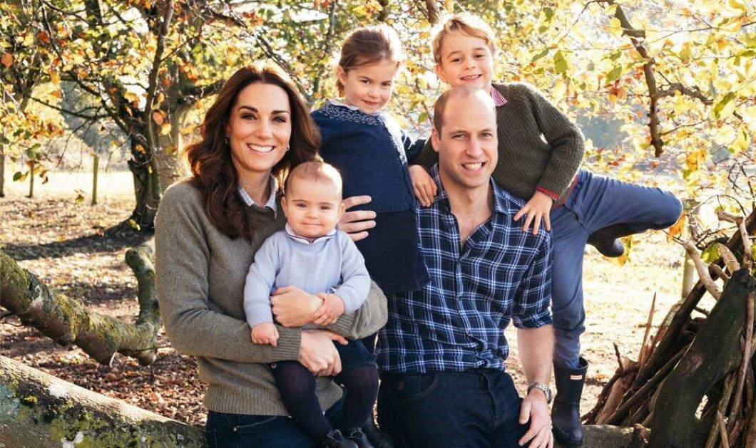 Η επίσημη Χριστουγεννιάτικη κάρτα του πρίγκιπαWilliam, της Kate & των τριών παιδιών - Φώτο από το γεύμα της βασίλισσας Ελισάβετ - Κυρίως Φωτογραφία - Gallery - Video