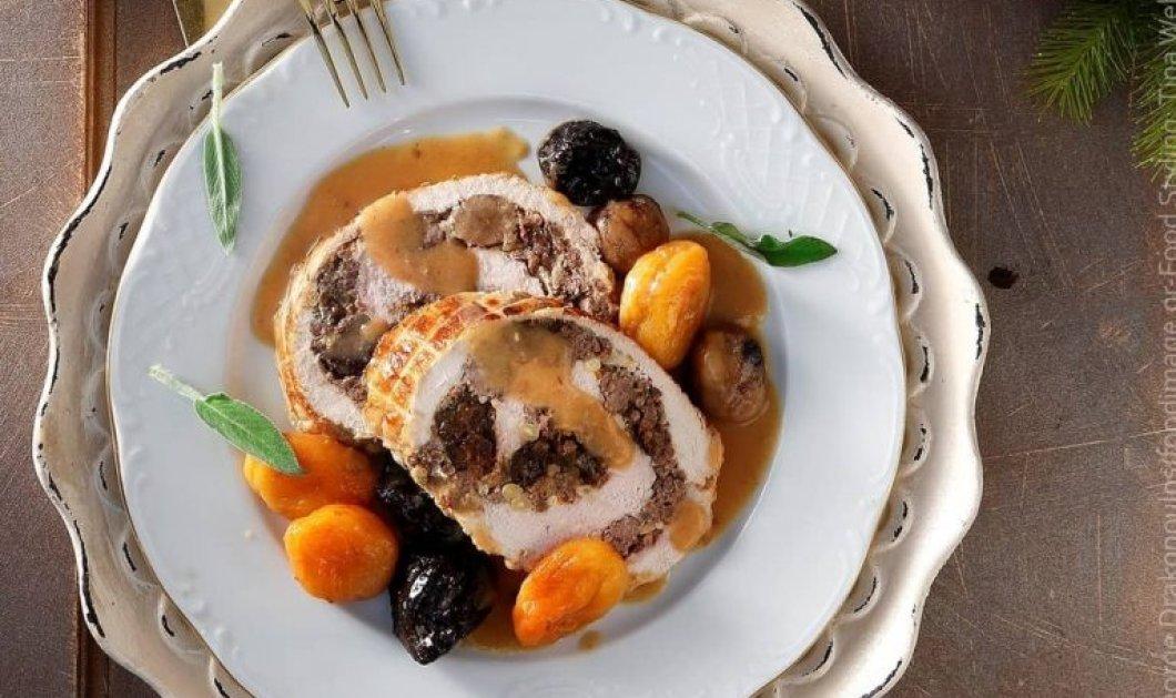 Η Αργυρώ Μπαρμπαρίγου προτείνει ζουμερό Χριστουγεννιάτικο κοτόπουλο ρολό, με τέλεια γέμιση!  - Κυρίως Φωτογραφία - Gallery - Video