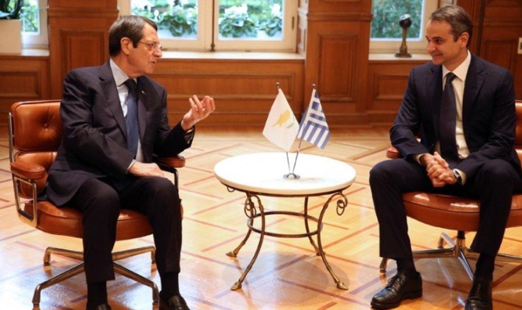 """Κυρ. Μητσοτάκης - Νίκος Αναστασιάδης: """"Επιστέγασμα μιας πολύ ουσιαστικής τριμερούς συνεργασίας, ο EastMed"""" - Ολοκληρώθηκε η συνάντηση με Νετανιάχου (φώτο-βίντεο) - Κυρίως Φωτογραφία - Gallery - Video"""