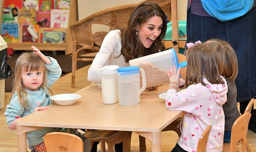 Η Κέιτ Μίντλετον «πριγκίπισσα των παιδιών»: Επισκέφθηκε νηπιαγωγείο & σέρβιρε πρωινό - Φώτο - Κυρίως Φωτογραφία - Gallery - Video
