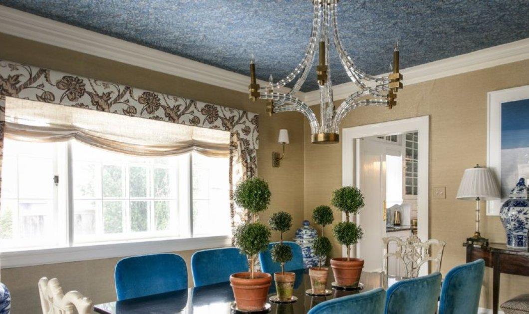 25 προτάσεις για φαντασμαγορικές οροφές σπιτιών με χρώματα & πολλά σχέδια: Πείτε αντίο στα λευκά ταβάνια - Φώτο  - Κυρίως Φωτογραφία - Gallery - Video