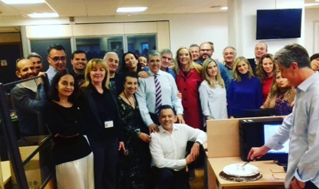 Οι δημοσιογράφοι του Alpha έκοψαν την πίτα τους και η Μαρία Νικόλτσιου αναρτά την φώτο - Κυρίως Φωτογραφία - Gallery - Video