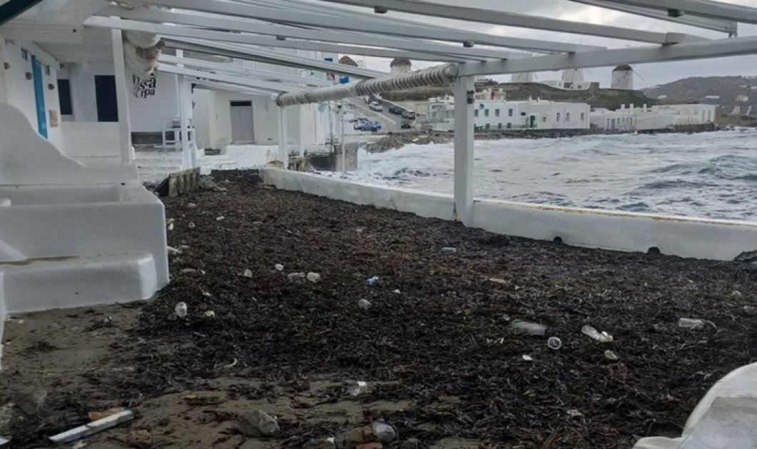 """Ο Ηφαιστίων""""κατέστρεψε"""" την Μύκονο - Φώτο & βίντεο από τις ζημιές στο νησί των ανέμων - Κυρίως Φωτογραφία - Gallery - Video"""