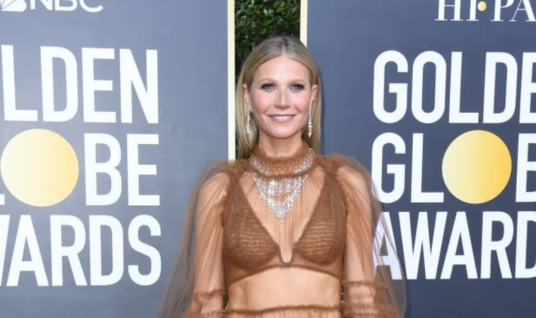 """Χρυσές Σφαίρες: Σχεδόν γυμνή η Γκουίνεθ Πάλτροου στο κόκκινο χαλί - Πως """"την είδε έτσι"""" η 47χρονη σταρ - Φώτο - Κυρίως Φωτογραφία - Gallery - Video"""
