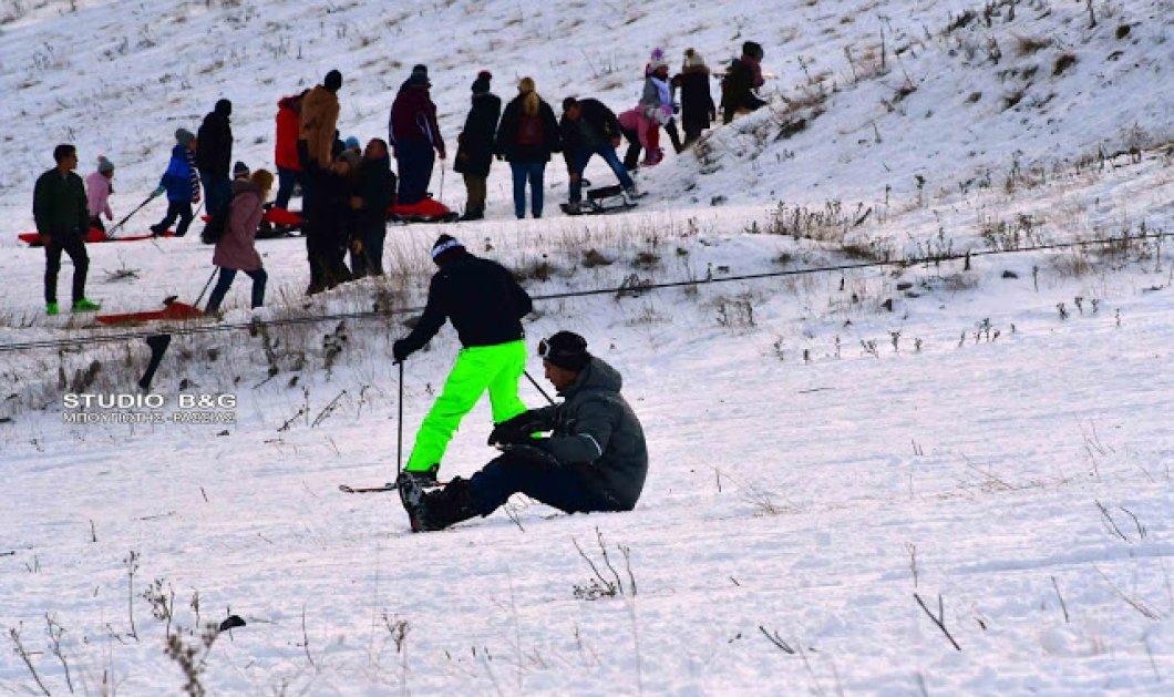 Υπέροχο λευκό τοπίο στο Μαίναλο: 8 πίστες, 4 αναβατήρες & ο κόσμος χαίρεται το χιόνι - Βίντεο  - Κυρίως Φωτογραφία - Gallery - Video