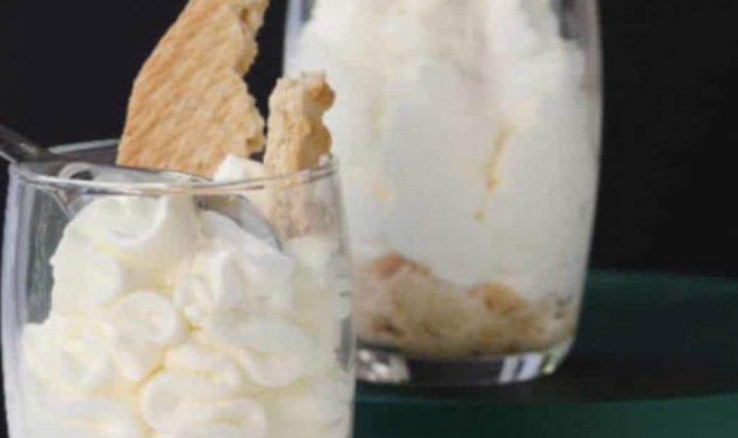 Στέλιος Παρλιάρος: Κρέμα τυριού με μπισκότα – Έτοιμη μέσα σε μόλις 10 λεπτά  - Κυρίως Φωτογραφία - Gallery - Video