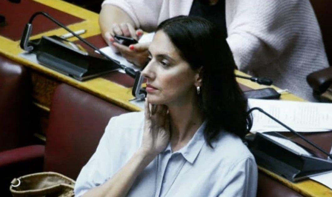 Όταν μια βουλευτής σιδερώνει - Η Νόνη Δούνια κάνει δουλειές στο σπίτι (φωτό) - Κυρίως Φωτογραφία - Gallery - Video