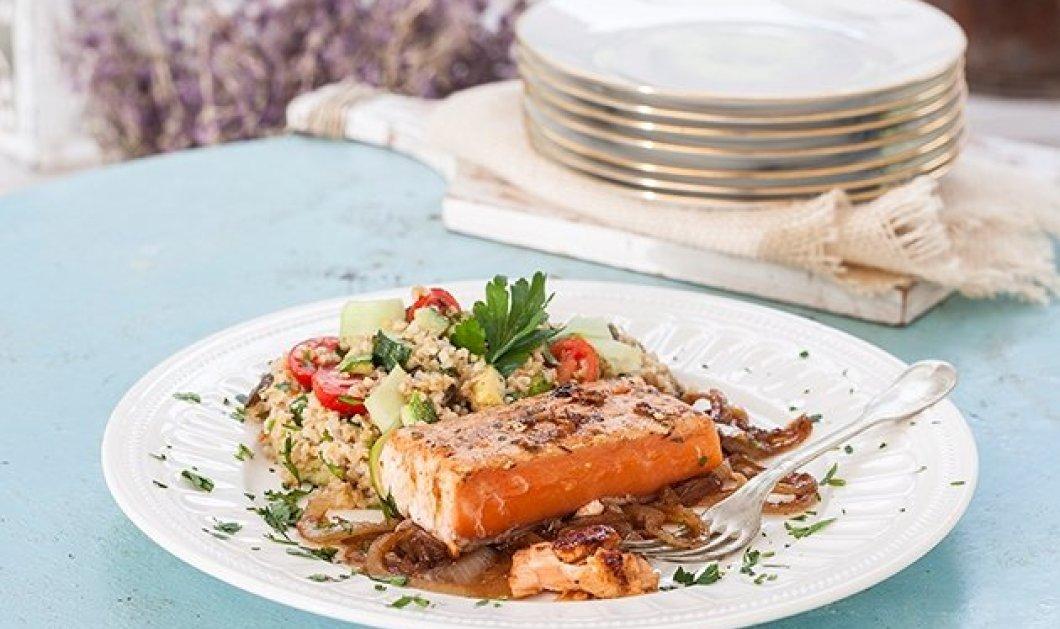 Μία υπέροχη συνταγή από την Αργυρώ Μπαρμπαρίγου- Σολωμός φιλέτο στο τηγάνι - Κυρίως Φωτογραφία - Gallery - Video