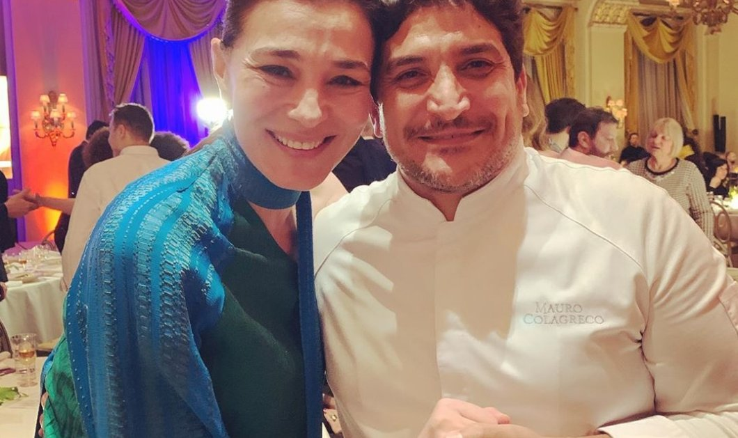 """Η Μαρία Ναυπλιώτου με τον καλύτερο σεφ στον κόσμο Mauro Colagreco που μαγείρεψε για τους καλεσμένους στους """"Χρυσούς Σκούφους 2020"""" (φωτό) - Κυρίως Φωτογραφία - Gallery - Video"""