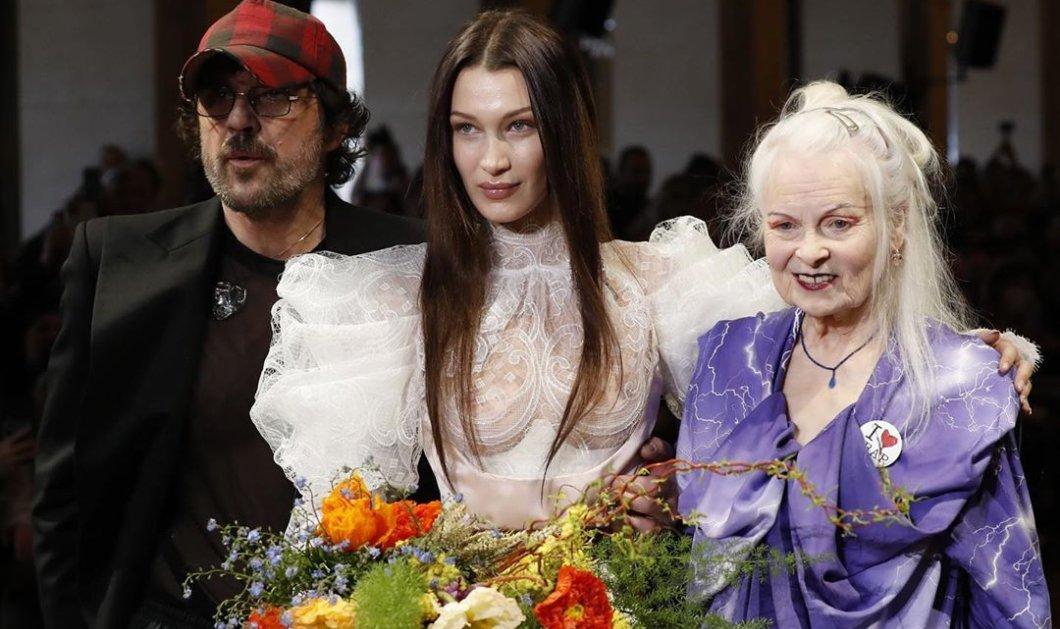 Οι extravagant εμφανίσεις στην πασαρέλα της Vivienne Westwood: Νύφη με see through μπούστο & τεράστια μανίκια η εκθαμβωτική Bella Hadid (φωτό - βίντεο) - Κυρίως Φωτογραφία - Gallery - Video