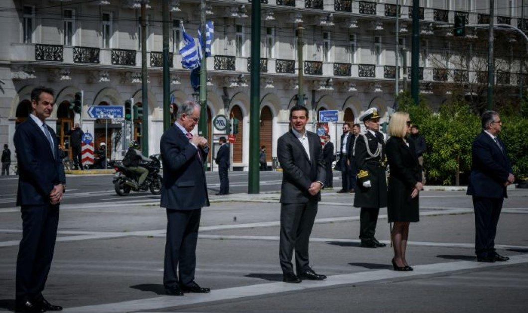 Φωτορεπορτάζ 25η Μαρτίου: Όλοι οι πολιτικοί αρχηγοί της Ελλάδας σε απόσταση αλλά και μαζί – Ιδιαίτερου συμβολισμού εικόνες - Κυρίως Φωτογραφία - Gallery - Video
