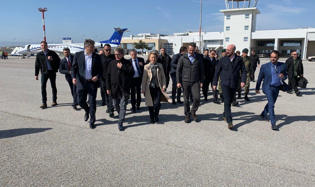 Στον Έβρο η ηγεσία της ΕΕ - Πέταξαν μαζί με τον Κυρ. Μητσοτάκη με ελικόπτερο πάνω από τα σύνορα  - Κυρίως Φωτογραφία - Gallery - Video