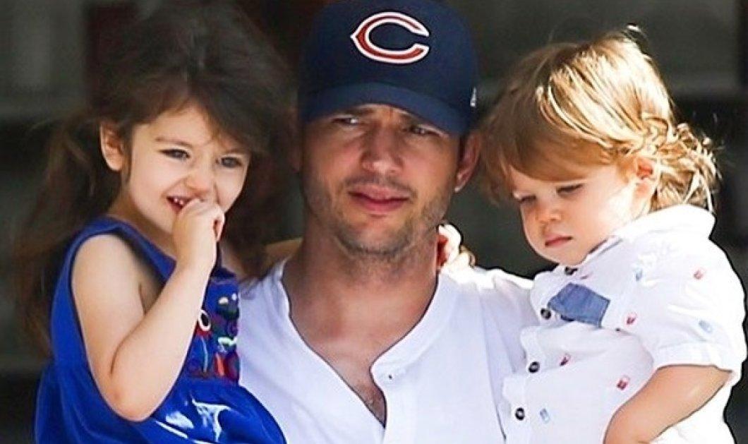 Ashton Kutcher: Ο πιο τρελούτσικος αλλά και ο πιο τρυφερός μπαμπάς του κόσμου - Παιχνίδια στον δρόμο με τον 3χρονο γιο του Dimitri (φωτό) - Κυρίως Φωτογραφία - Gallery - Video