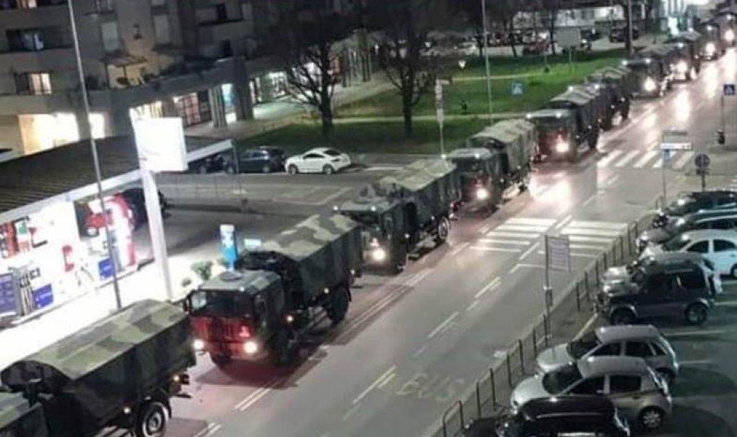 Η φωτογραφία της La Repubblica με το Στρατιωτικό κομβόι να μεταφέρει πτώματα επιβεβαιώνει ότι ζούμε τον Γ' παγκόσμιο πόλεμο - Κυρίως Φωτογραφία - Gallery - Video
