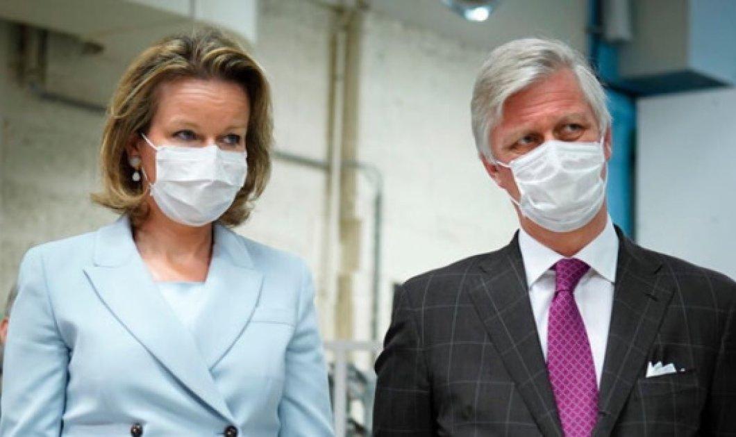 Ο βασιλιάς και η βασίλισσα του Βελγίου επισκέπτονται ασθενείς με κορωνοϊό φορώντας τις μάσκες τους  (Φωτό) - Κυρίως Φωτογραφία - Gallery - Video
