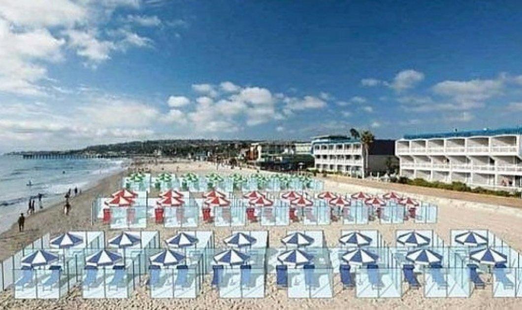 Ίσως δούμε κι αυτό: Παραλίες & εστιατόρια με πλέξιγκλας – Στην μετά κορωνοϊό εποχή θα τρώμε και θα λιαζόμαστε με διαχωριστές (Φωτό) - Κυρίως Φωτογραφία - Gallery - Video