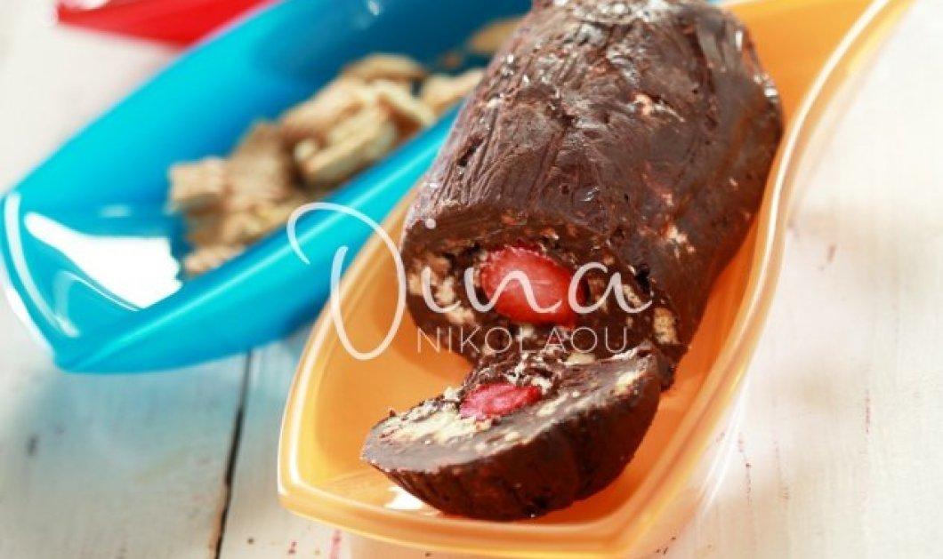 Η Ντίνα Νικολάου μας φτιάχνει ένα υπέροχο γλυκό – Μωσαϊκό με φράουλες - Κυρίως Φωτογραφία - Gallery - Video