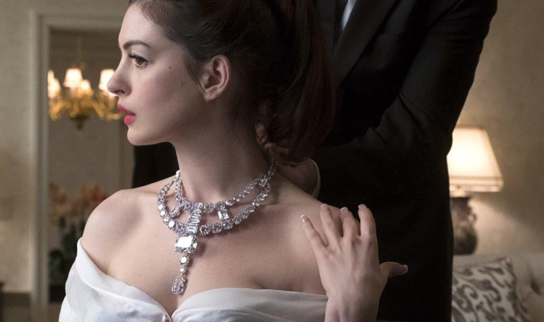 Η πραγματική ιστορία πίσω από το πολυτιμότερο κολιέ με διαμάντια του Cartier - Πως το φόρεσε η Anne Hathaway (φωτό) - Κυρίως Φωτογραφία - Gallery - Video
