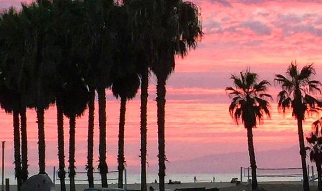 Ηλιοβασίλεμα  - Το όνειρο: Ας απολαύσουμε την Δύση στο Venice Beach της Καλιφόρνια με τα πορτοκαλί, μωβ χρώματα στο απόγειό τους - Κυρίως Φωτογραφία - Gallery - Video