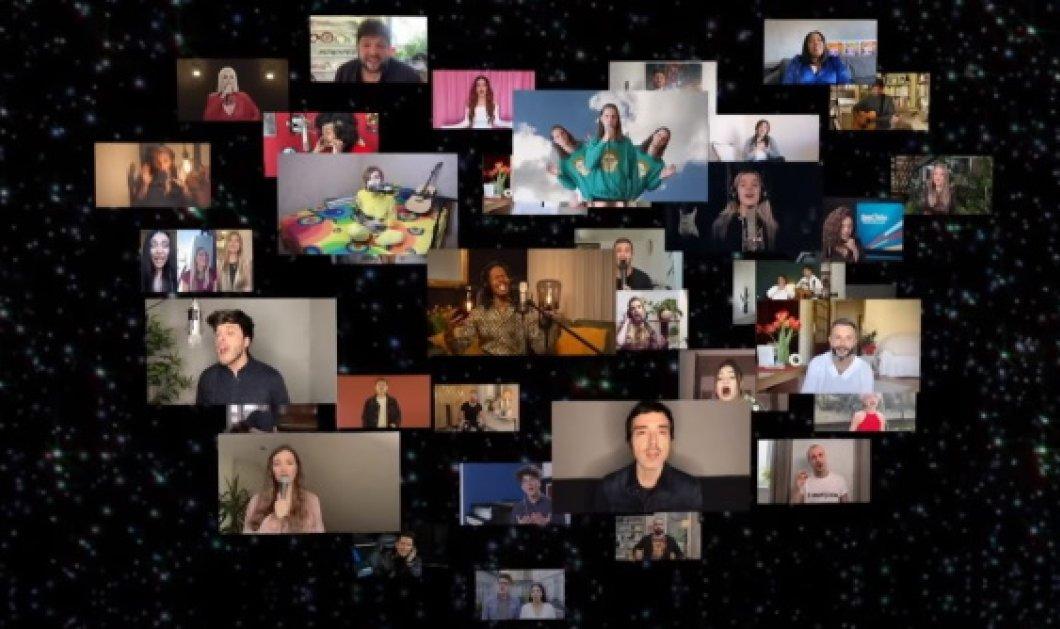 «Europe Shine a light»: Το συγκινητικό φινάλε της βραδιάς - Όλοι οι διαγωνιζόμενοι μια φωνή  - Κυρίως Φωτογραφία - Gallery - Video