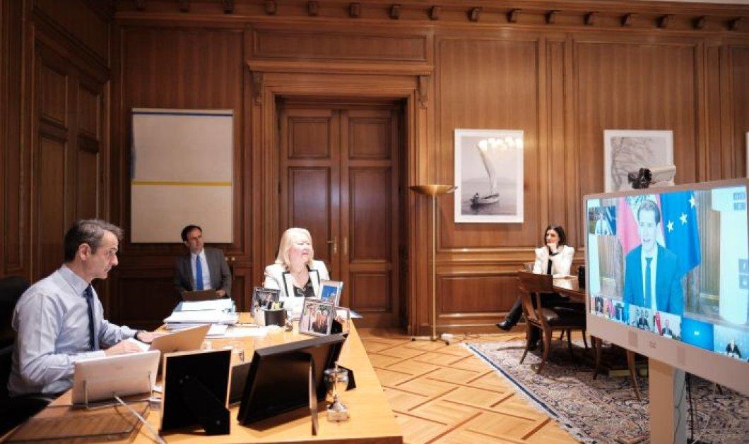 Κυριάκος Μητσοτάκης: Τηλεδιάσκεψη με 7 πρωθυπουργούς που αντιμετώπισαν με επιτυχία τον κορωνοϊό - Κυρίως Φωτογραφία - Gallery - Video