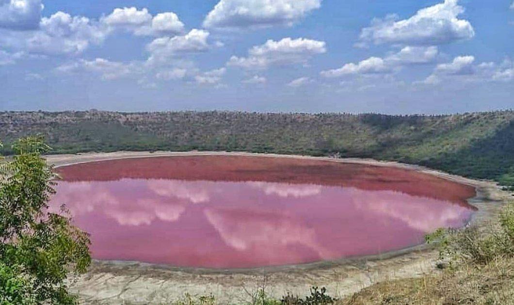 Η μαγική ροζ λίμνη της Ινδίας: Το μυστήριο για το πως άλλαξε χρώμα μέσα σε 24 ώρες - Κυρίως Φωτογραφία - Gallery - Video