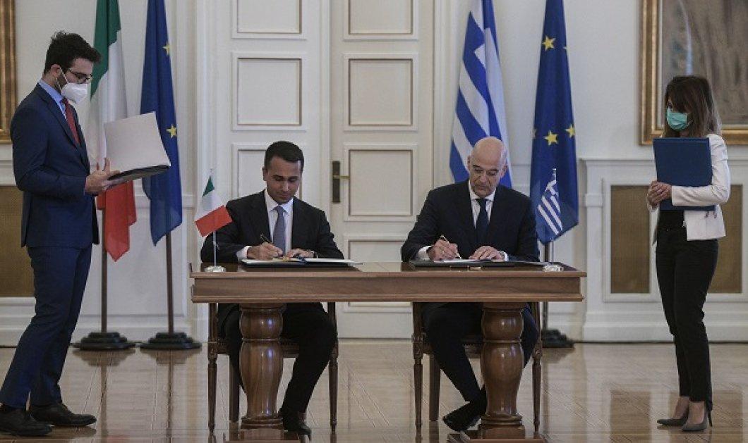 Υπεγράφη η συμφωνία για τον καθορισμό ΑΟΖ μεταξύ Ελλάδας & Ιταλίας - Δένδιας: Ιστορική μέρα, σημαντική εξέλιξη (φωτό - βίντεο) - Κυρίως Φωτογραφία - Gallery - Video