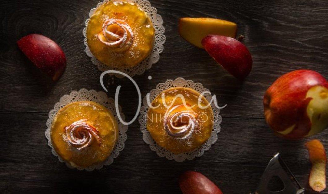 H Ντίνα Νικολάου μας ετοιμάζει λαχταριστά ταρτάκια με τριανταφυλλένια μήλα - Κυρίως Φωτογραφία - Gallery - Video