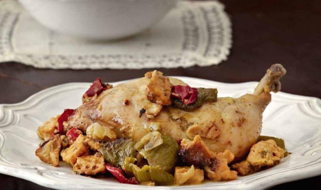 Εύκολο & πεντανόστιμο κοτόπουλο με πιπεριές στο φούρνο από την Αργυρώ Μπαρμπαρίγου - Κυρίως Φωτογραφία - Gallery - Video