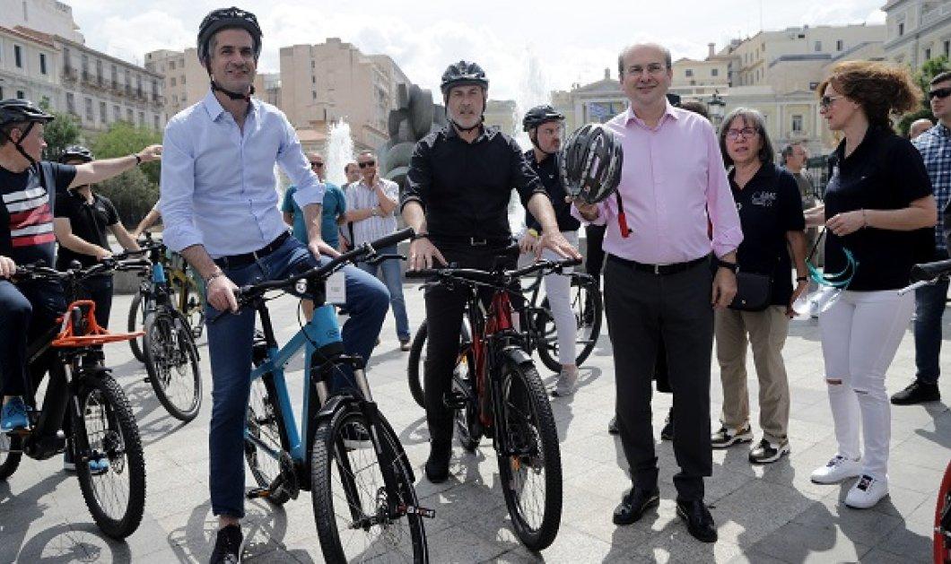 Ποδηλάτες για 1 μέρα ή κάθε μέρα; Υπουργός Χατζηδάκης & δήμαρχοι Μπακογιάννης και Μώραλης - Καρέ καρέ όλη η βόλτα (φωτό - βίντεο)  - Κυρίως Φωτογραφία - Gallery - Video