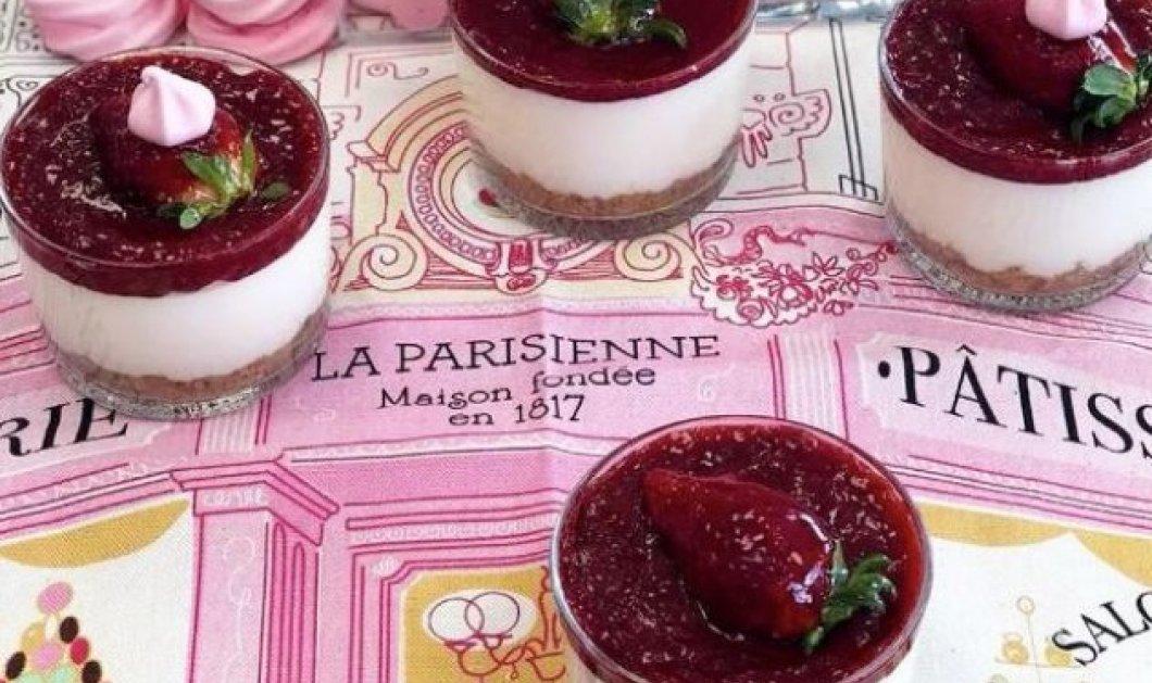 Η Ντίνα Νικολάου φτιάχνει νοστιμότατο Cheesecake με άρωμα τριαντάφυλλο - Κυρίως Φωτογραφία - Gallery - Video