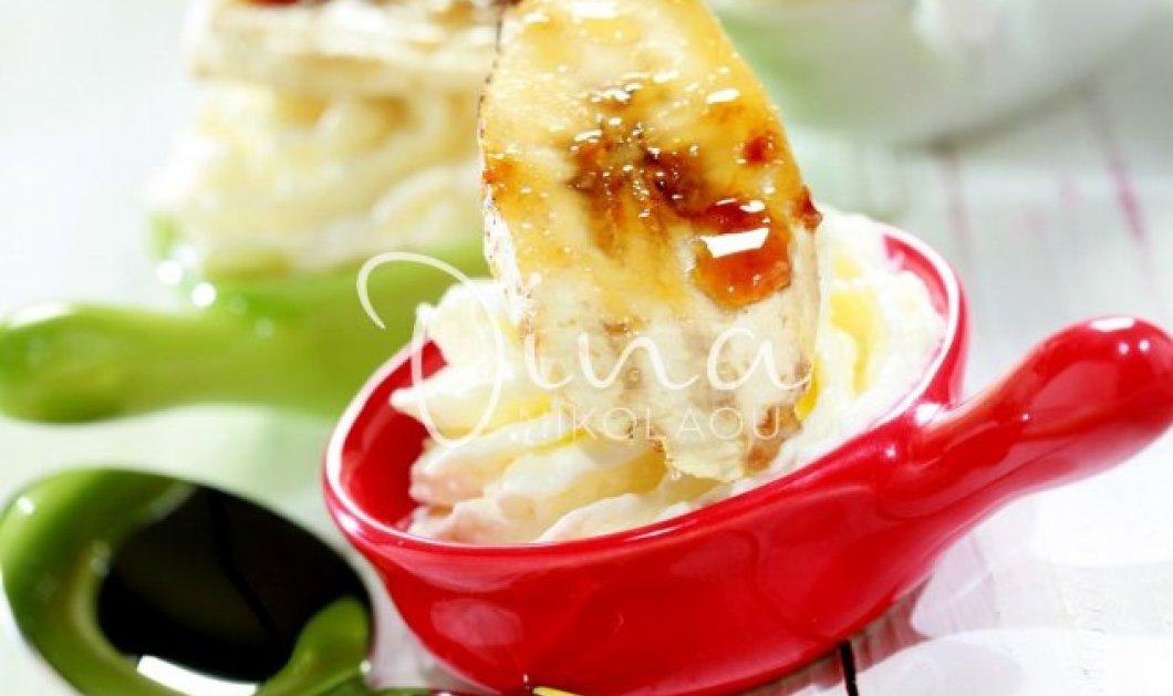 Φανταστικό γλυκό από την Ντίνα Νικολάου - Κρέμα καρύδας με καραμελωμένες μπανάνες! - Κυρίως Φωτογραφία - Gallery - Video