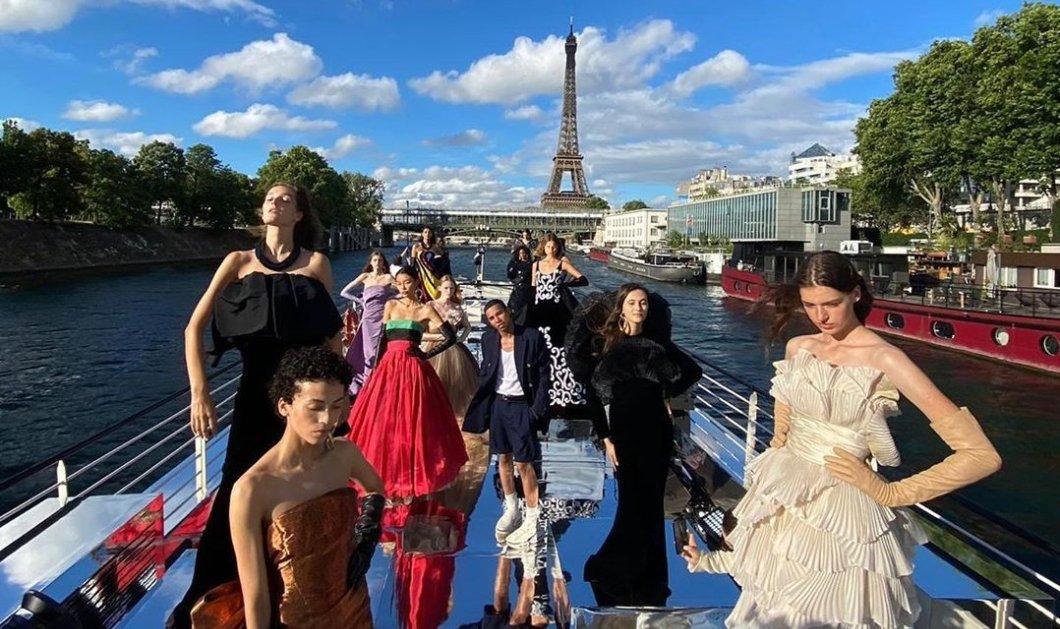 Παρίσι - Εβδομάδα Μόδας: Ο Balmain παρουσιάζει την κολεξιόν του στον Σηκουάνα πάνω σε σκάφος - Απίθανες εικόνες - Κυρίως Φωτογραφία - Gallery - Video
