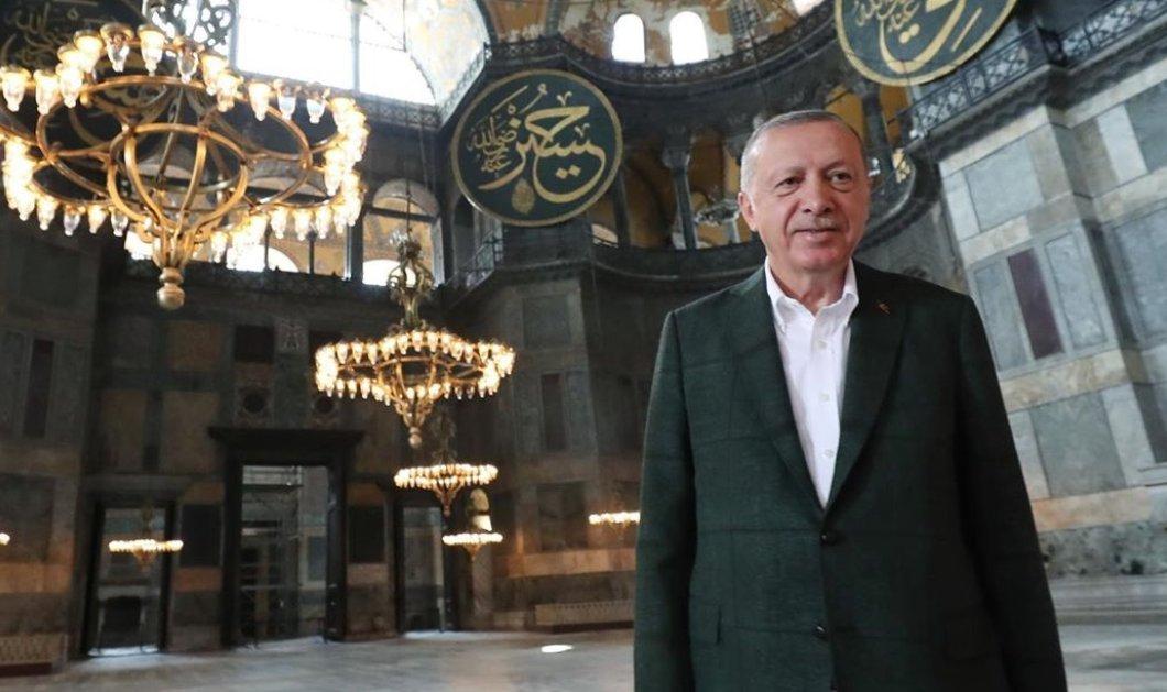 """Κορωνοϊός - Τουρκία: 3.000 πιστοί μολύνθηκαν στην """"προσευχή"""" - θέαμα του Ερντογάν στην Αγία Σοφία (φωτό - βίντεο) - Κυρίως Φωτογραφία - Gallery - Video"""