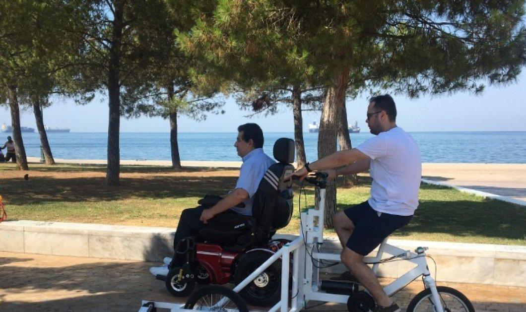 Good News: Παρουσιάστηκε το πρώτο ηλεκτρικό ποδήλατο για ανθρώπους με κινητικά προβλήματα - Έκανε την παρθενική του βόλτα στη Θεσσαλονίκη - Κυρίως Φωτογραφία - Gallery - Video